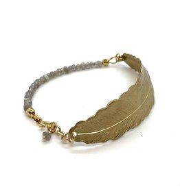Armband Veer - Grijs