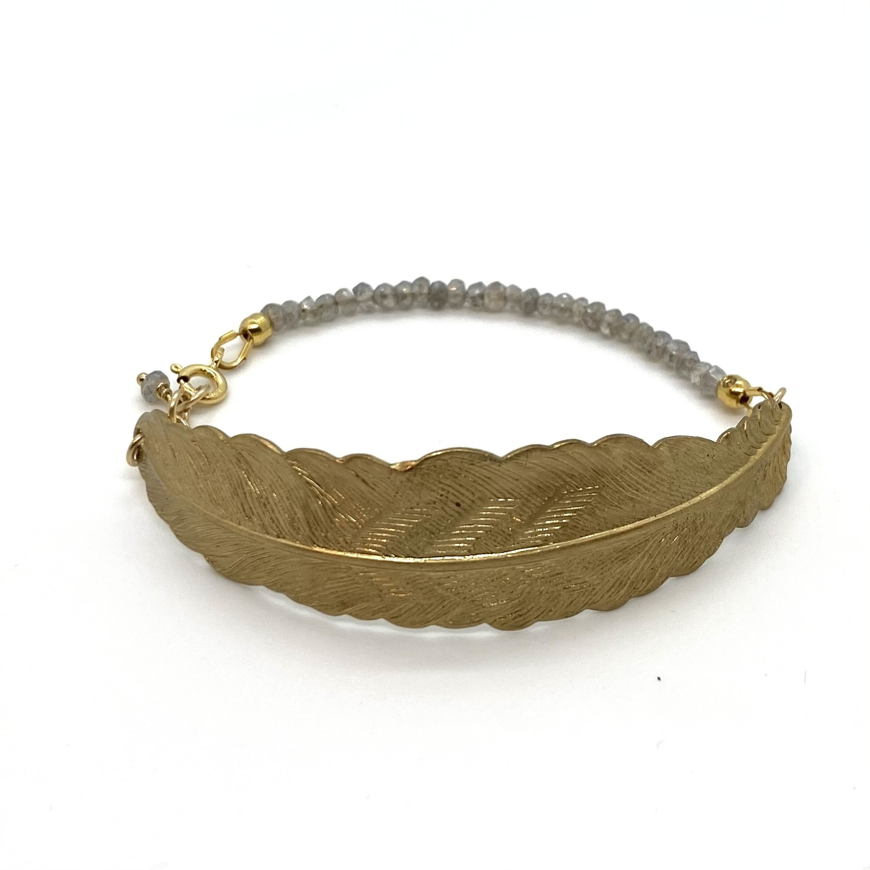 Bracelet Feather - Gray
