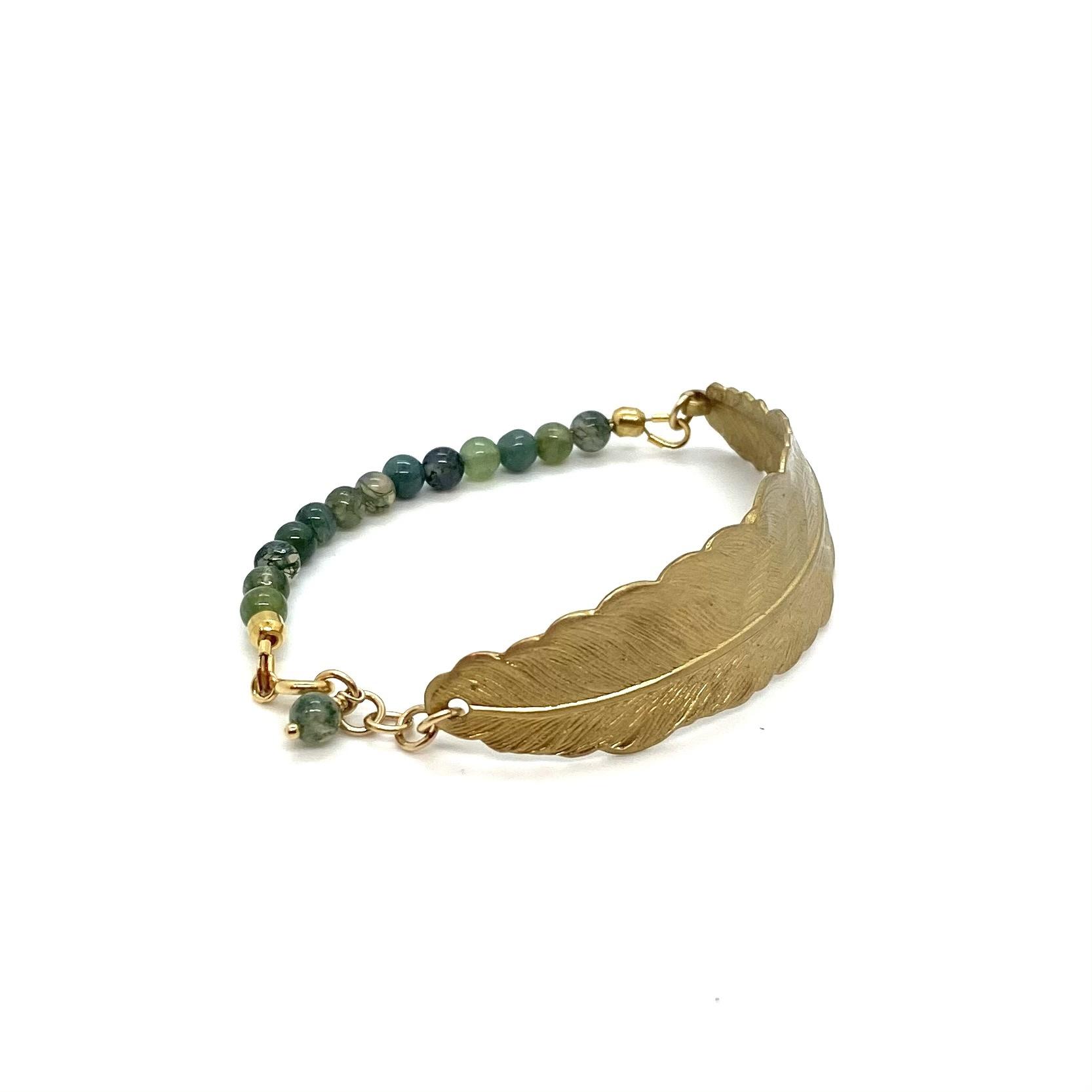 Bracelet Feather - Green