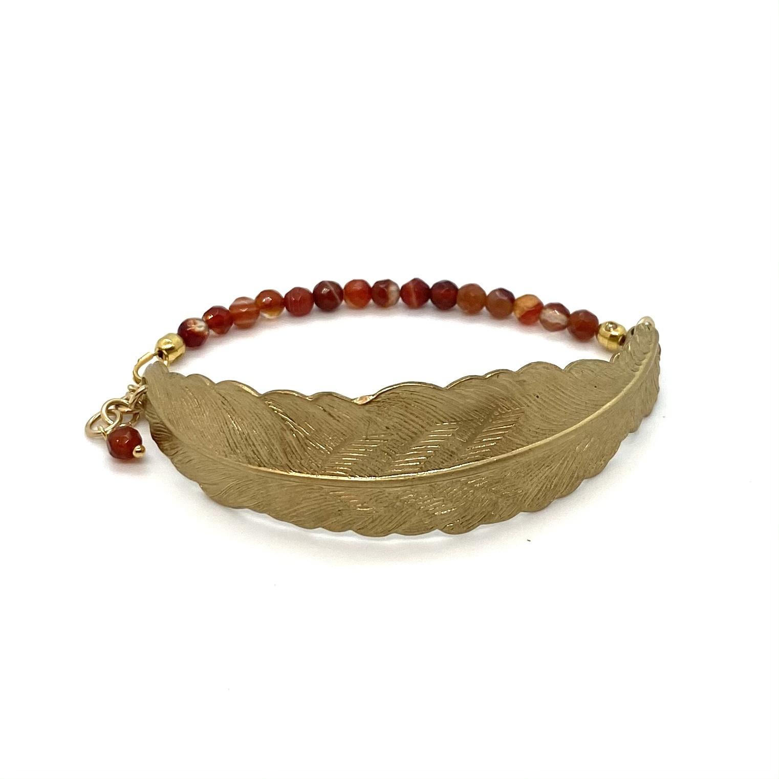 Armband Veer - Bruin/Rood