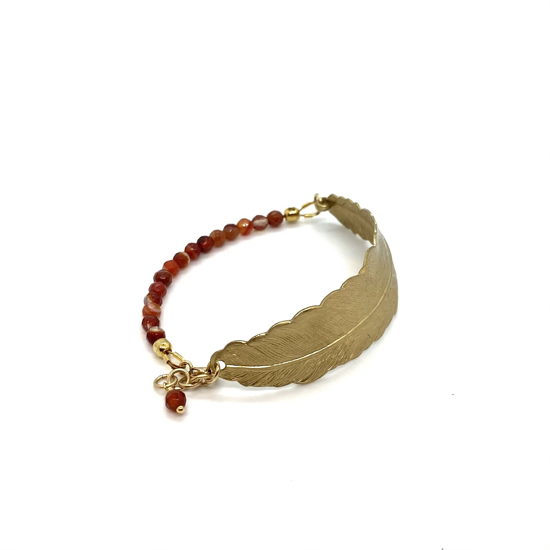 Bracelet Feather - Brown / Red