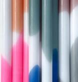 Tie Dye Kaarsen - Blauw/Wit/Groen (2 stuks)