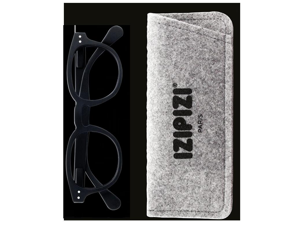 Izipizi Reading Glasses Model #C - Black