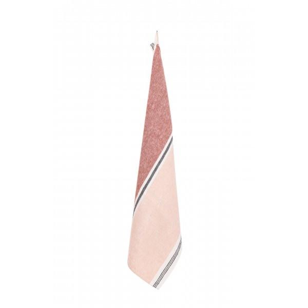 Harmony Tea towel Trevise - Old Pink