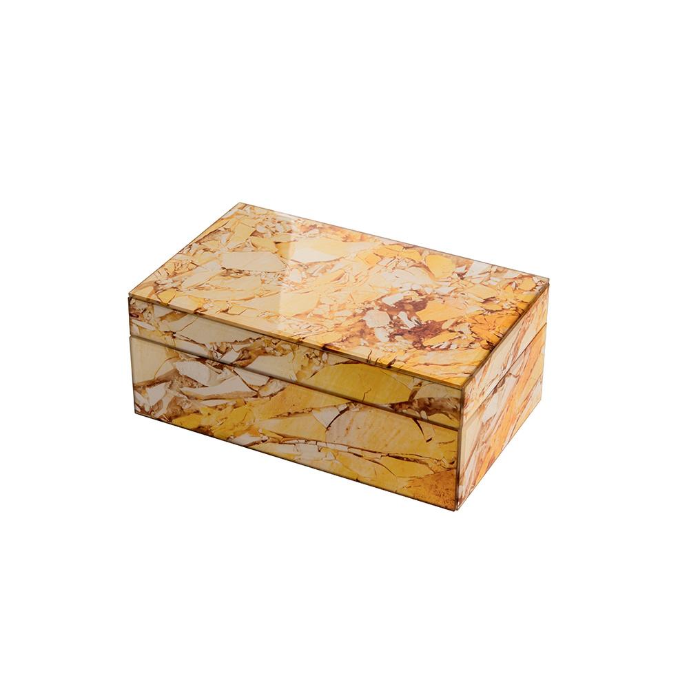 Mirror Box - Marble (Ocher)