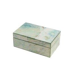Mirror Box - Marble (White/Green)