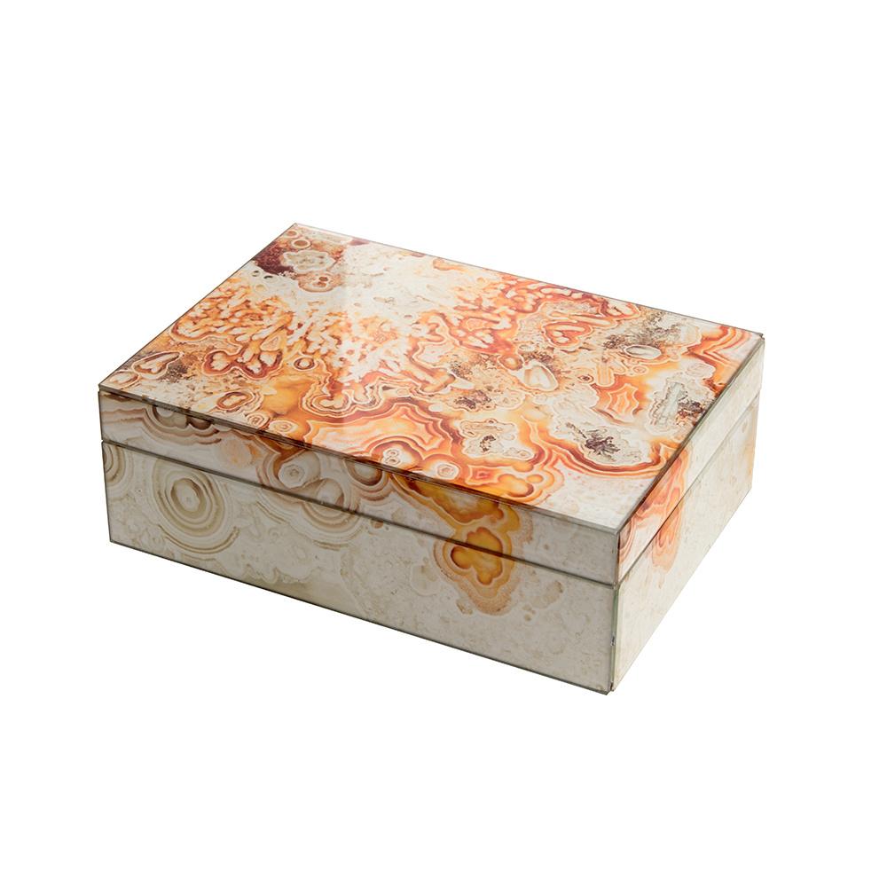 Mirror Box - Marble (Orange)