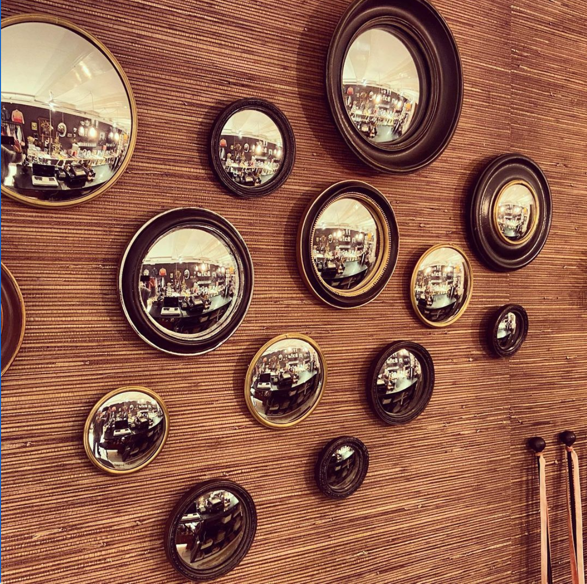 Convex Mirror - Wood
