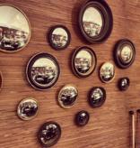 Convex Mirror - Double Gold Rim
