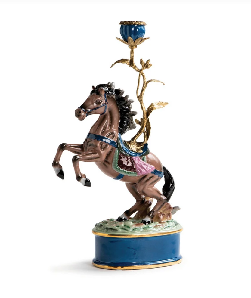&K Candle Holder - Horse