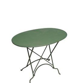 Folding Side Table Metal - Green