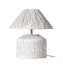 Lamp - Raffia Wit