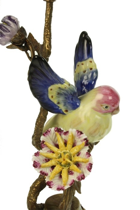 Kandelaar Vogel op Tak - Gekleurd