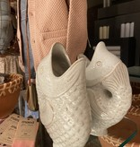 Madam Stolz Vase Fish - Off White