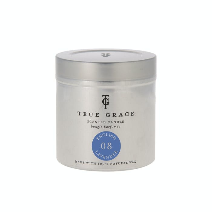 True Grace Scented candle in Can 08 - English Lavender
