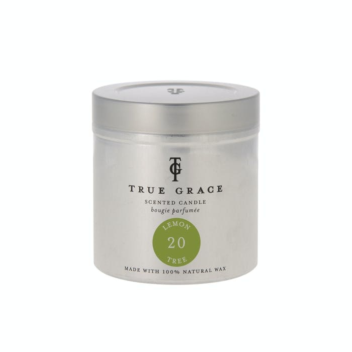True Grace Scented candle in Can 20 - Lemon Tree