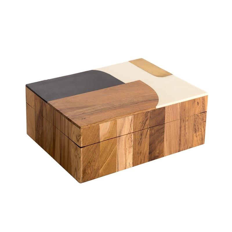 Storage box Abstract - Wood / Bone