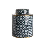 Pot with Lid (high) - Daisies
