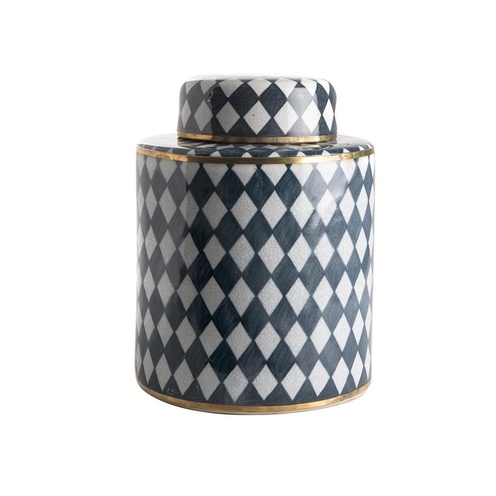 Pot with Lid (high) - Diamond