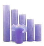 Bika Dikke Krul Kaarsen - Lavendel