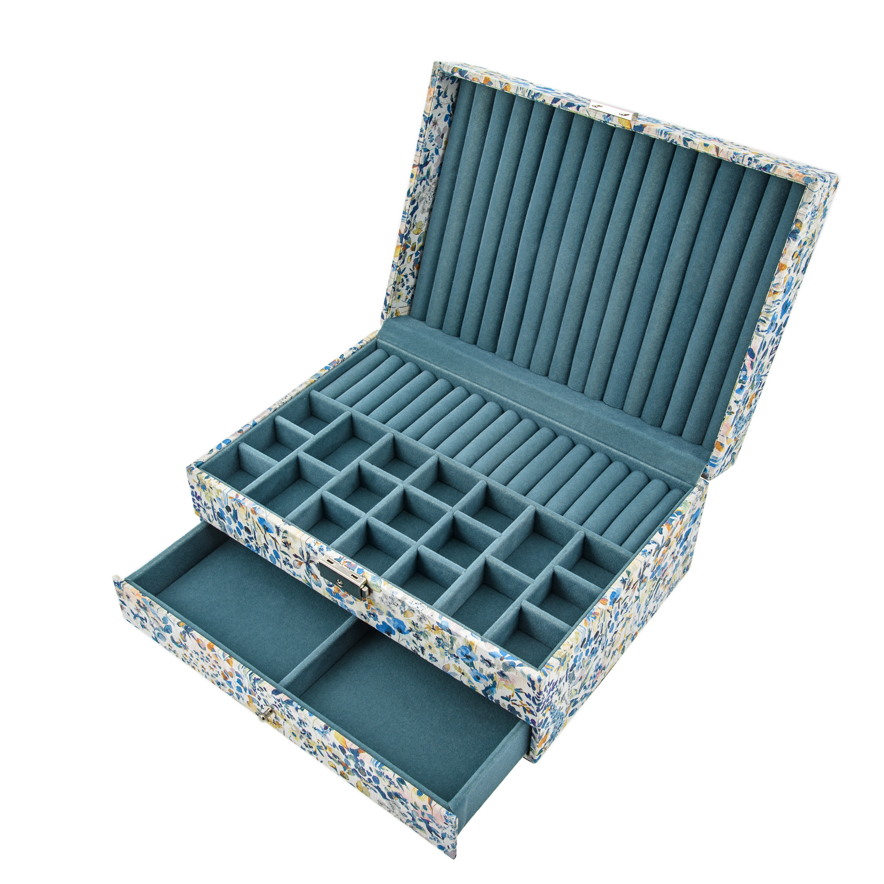 Bon Dep Jewelry Box Liberty - Felda Blue Linen