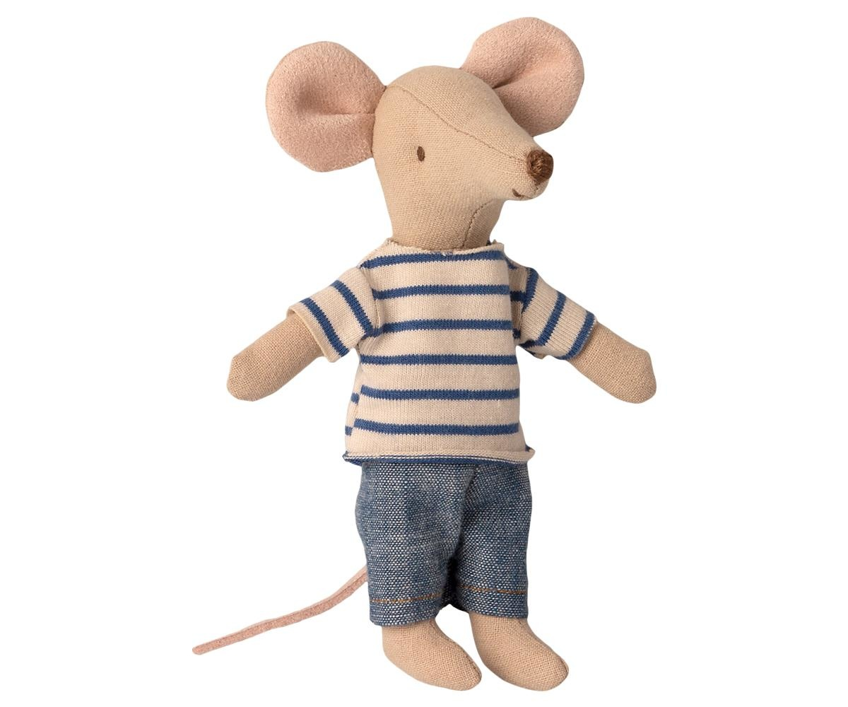 Maileg Mouse in Matchbox - Big Brother Stripe Shirt