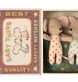 Maileg Mouses in Matchbox - Baby Twins