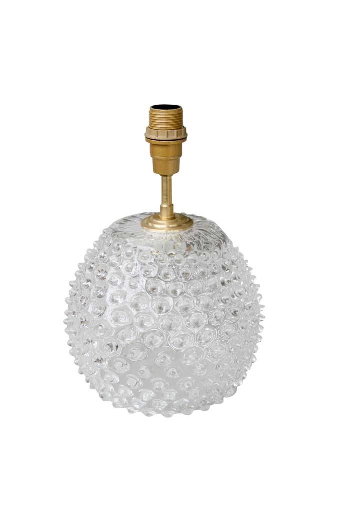 Lamp Base Glass - Diamond