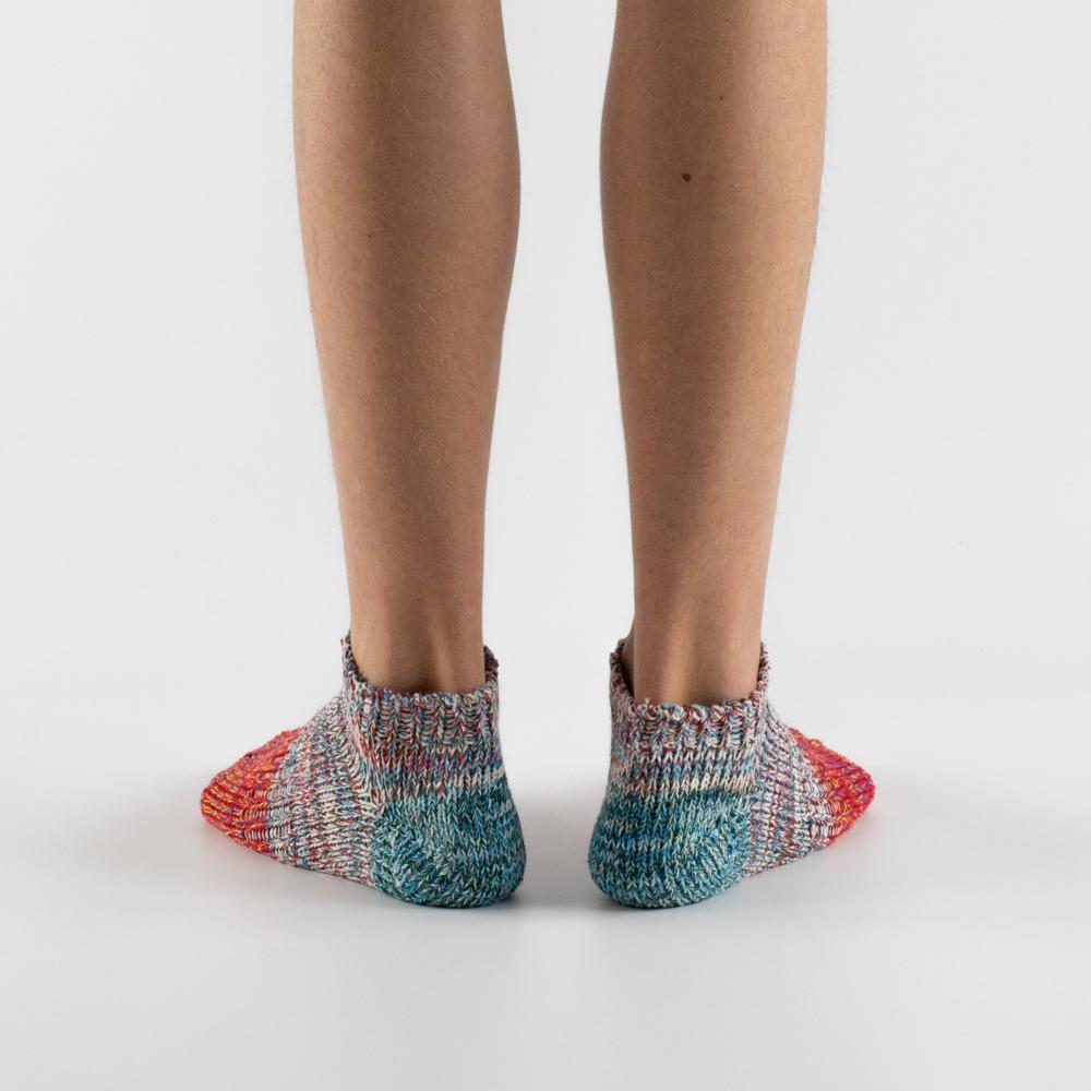 Thunders Love Charlie Ankle Socks Women - Light Blue/Red