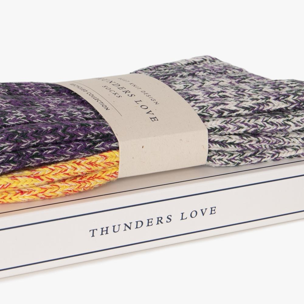 Thunders Love Charlie Sokken  Man - Geel