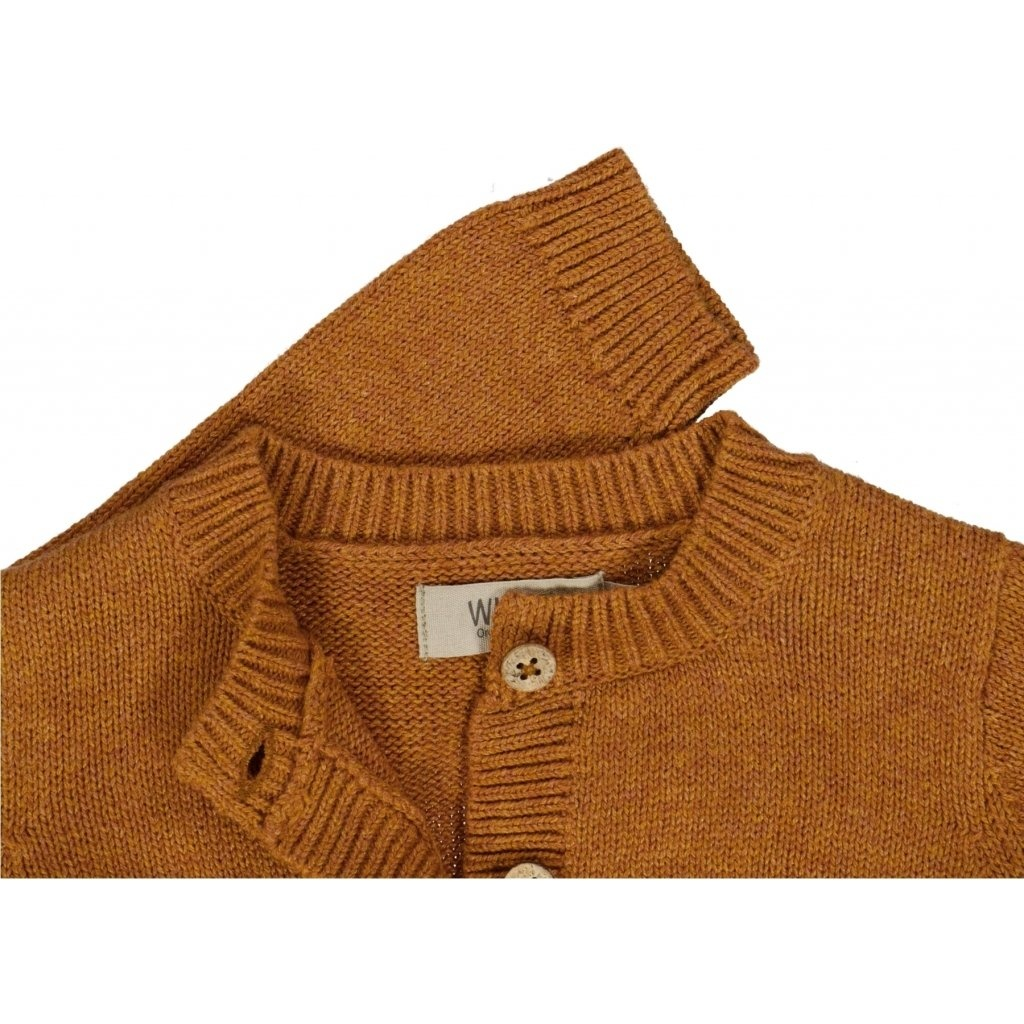 Wheat Knitted Cardigan - Ella Cinnamon