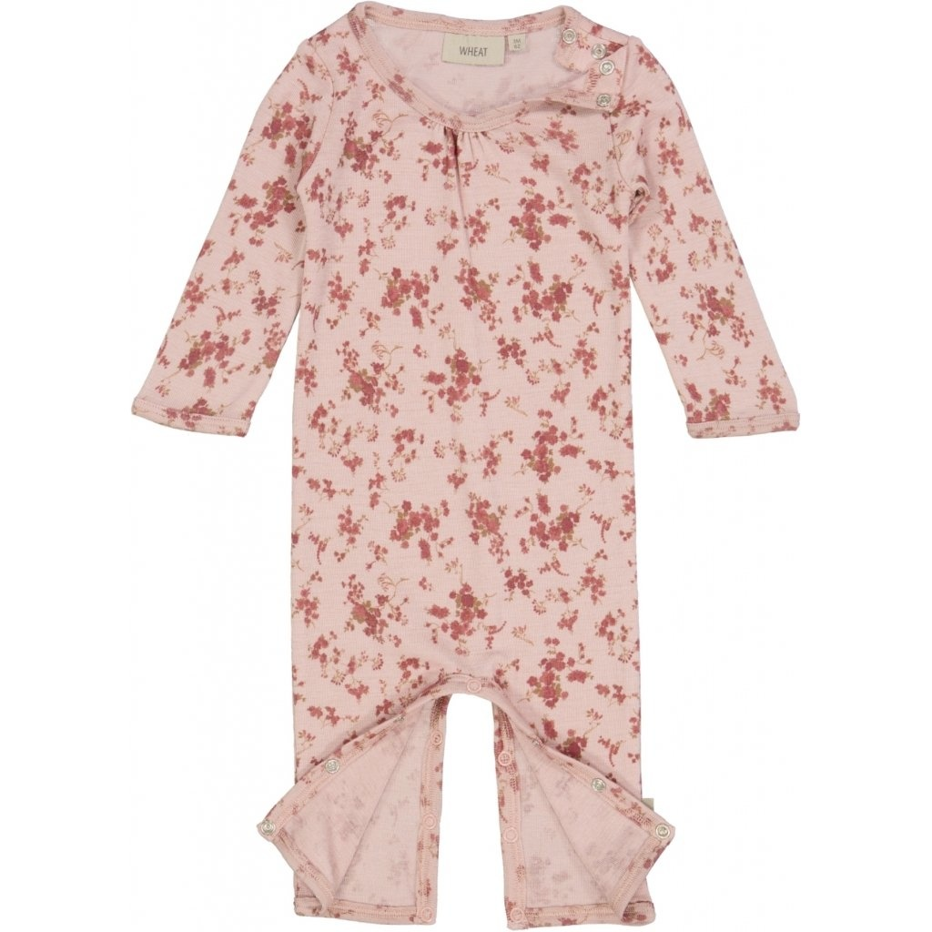 Wheat Wollen Jumpsuit - Rose Flowers