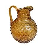 Schenkkan Hobnail Glas - Amber