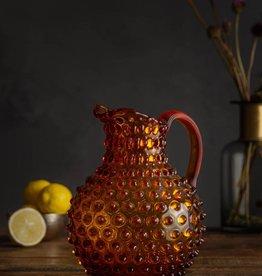 Jug Hobnail Glass - Amber