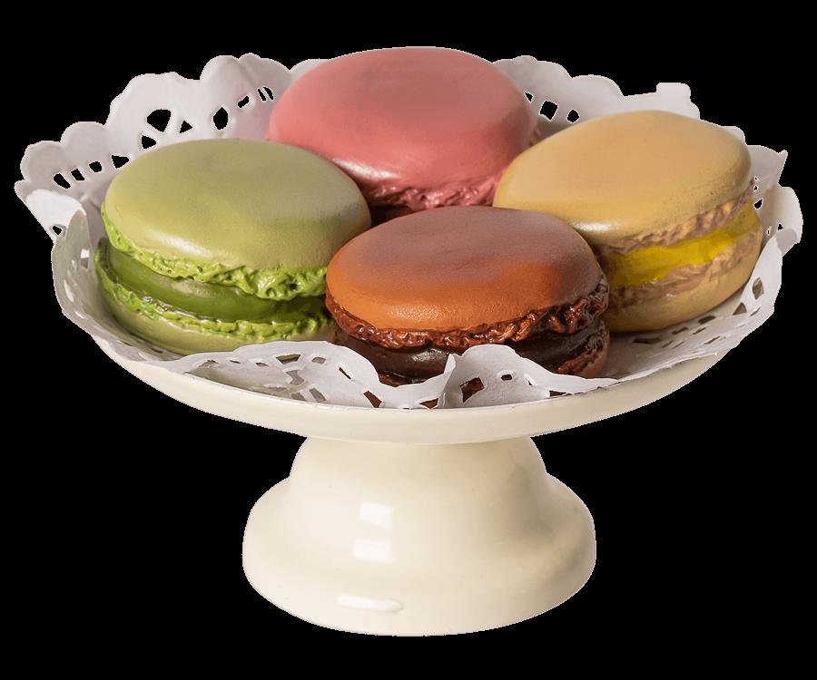 Maileg Set Macarons op Taartschaal