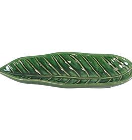Ovalen Schaaltje Blad - Donker Groen