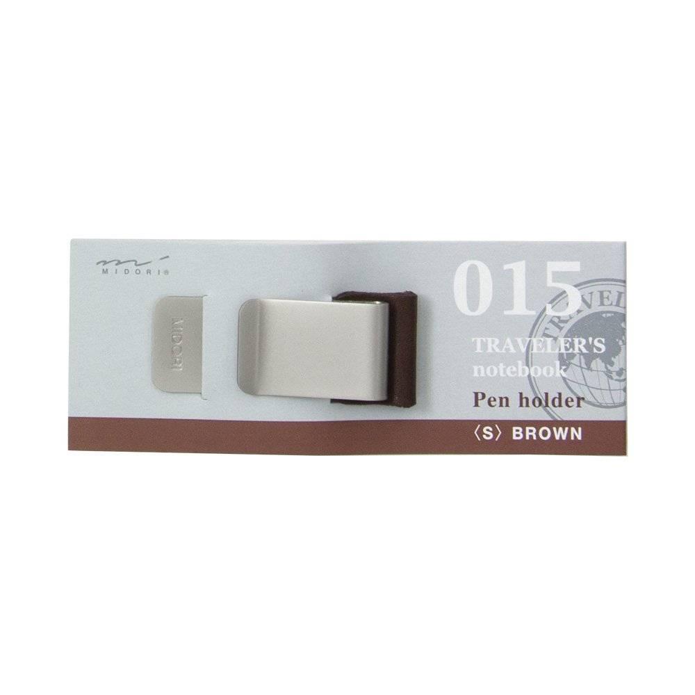 Midori Traveler's Notebook Pen Holder (s) 015 - Brown/Black