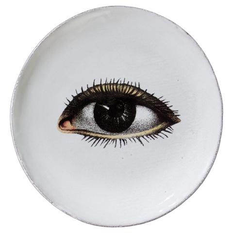 Astier de Villatte John Derian Small Saucer - Left Eye