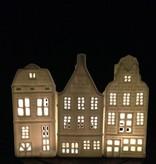 &K Waxinelichthouder - Grachtenpand - Geveltop
