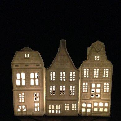 &K Waxinelichthouder - Grachtenpand - Blok