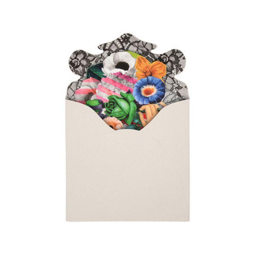 Christian Lacroix Note Cards Frivolités Fan-shaped