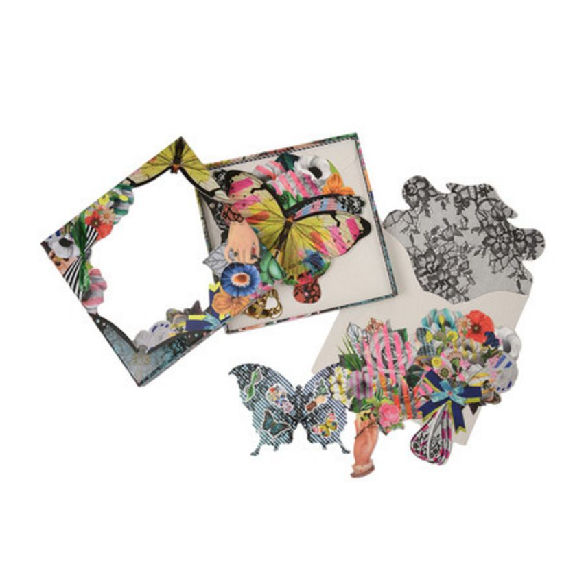 Christian Lacroix Note Cards Frivolités Fan-shaped