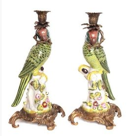 Candle Holder - Parrot Green