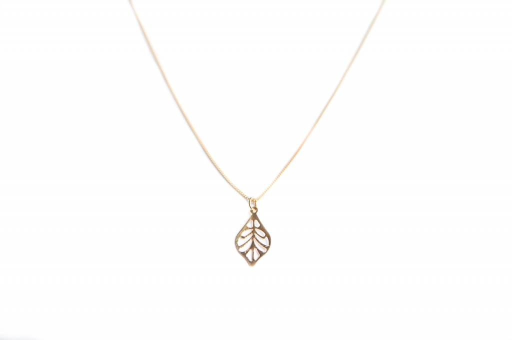 Bobby Rose Necklace - Leaf Charm Small