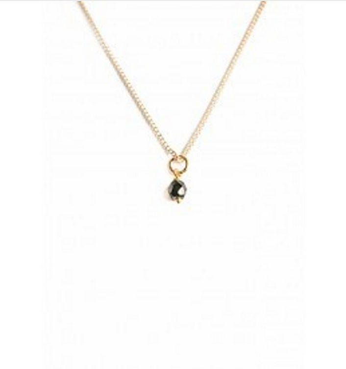 Bobby Rose Necklace - Onyx Stone