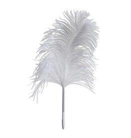 Maison Margiela Feather Pen Ostrich - White