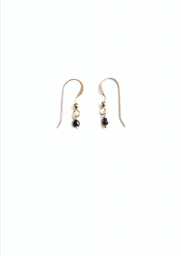 Bobby Rose Earring - Hook Onyx