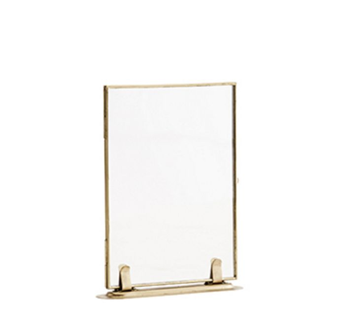 Madam Stolz Photo Frame on Foot - Brass