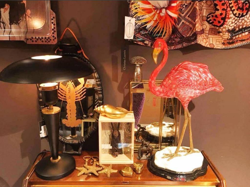 House Doctor Table Lamp Opal Petroleum Black