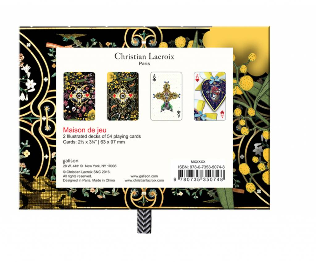Christian Lacroix Playing Cards - Maison de Jeu
